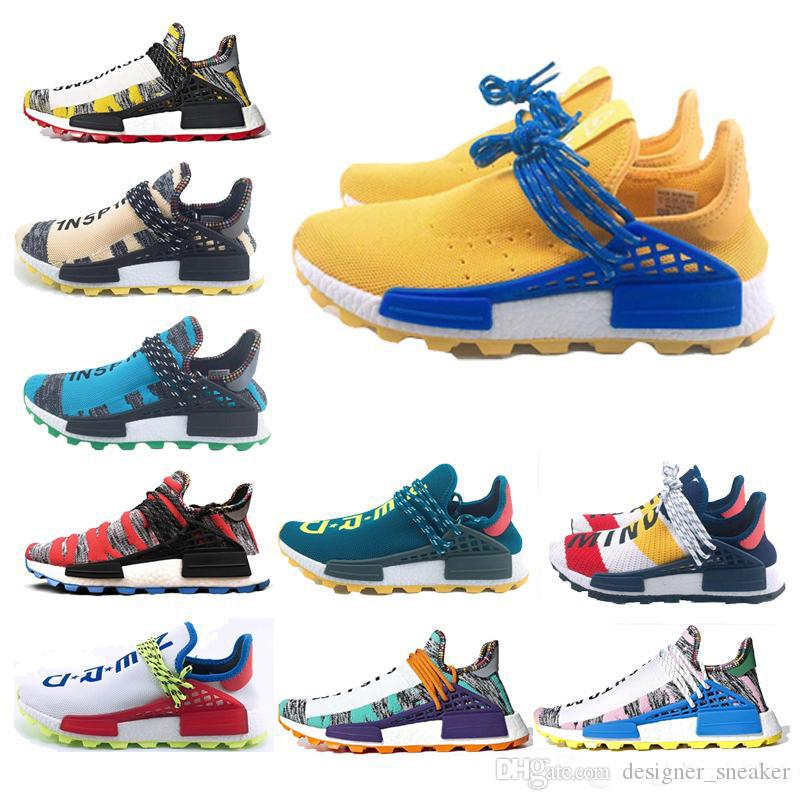 31842dbbd0c5a7 Human Race Hu Trail X Pharrell Williams Nerd Men Running Shoes Black ...