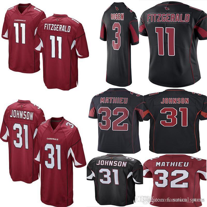 b49da4dac 2019 Men  11 Larry Fitzgerald 3 Josh Rosen Cardinals Jersey 31 David  Johnson 32 Tyrann Mathieu 13 Kurt Warner Jerseys From Fanatical store