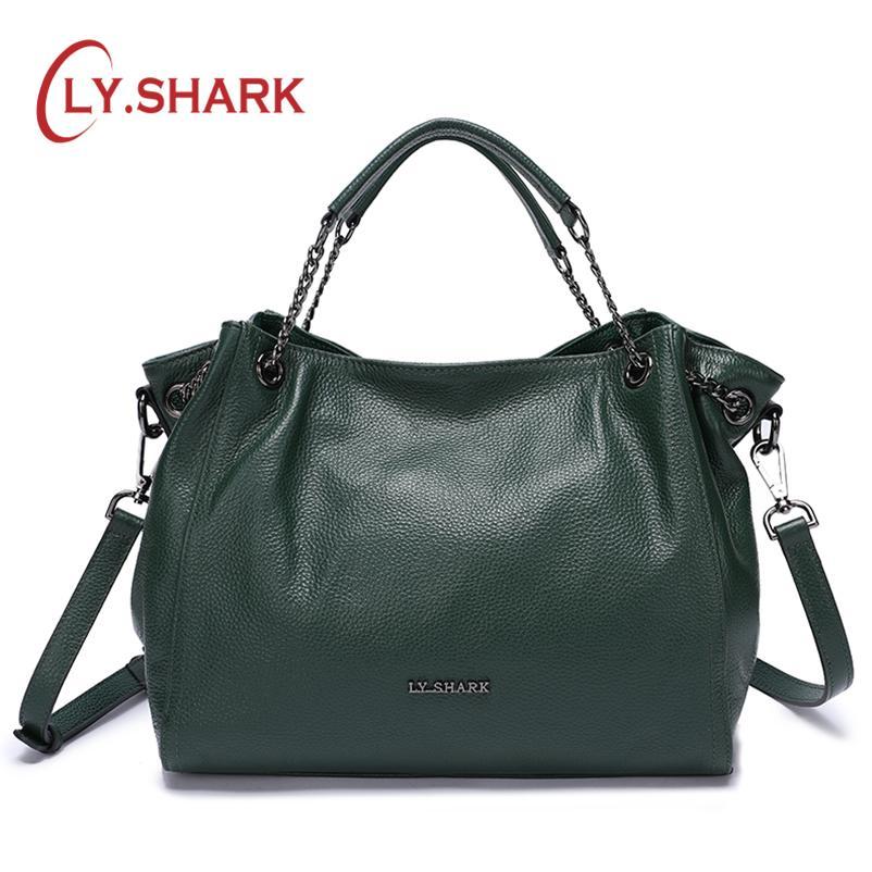 54590a5dda0 LY.SHARK Bags For Women 2018 Ladies Genuine Leather Handbag Luxury Handbag  Women Shoulder Bags Female Crossbody Messenger