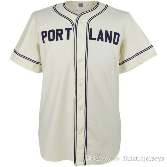 92bc54d36b6 Portland Rose Buds 1946 Home Jersey 100% Movie Baseball Jerseys ...