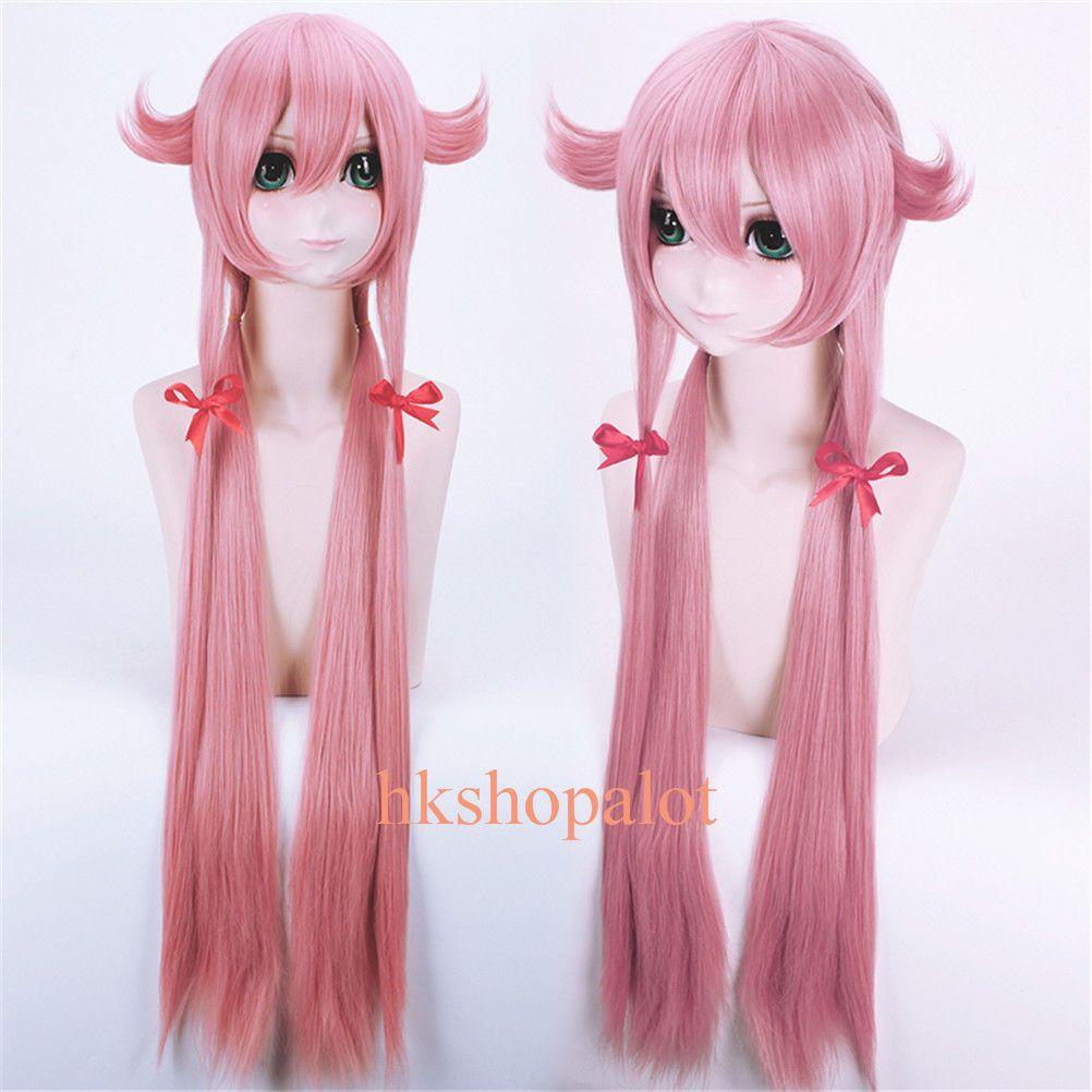 Future Diary Mirai Nikki Yuno Gasai Pink Girl Female Anime Cosplay