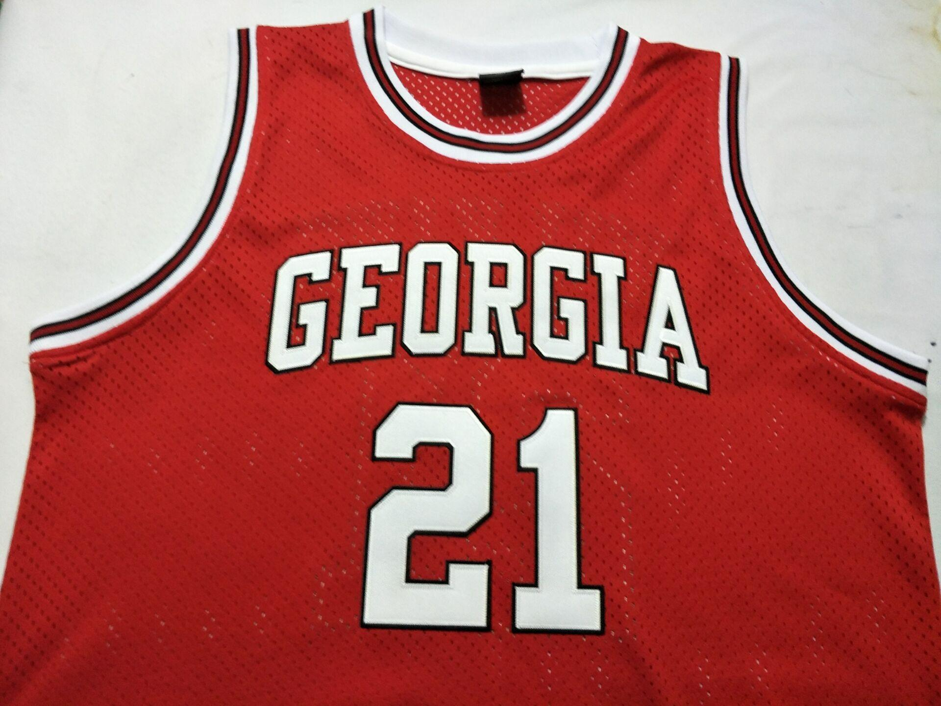 06b46f3a781c 2019 Men  21 DOMINIQUE WILKINS Jerseys GEORGIA BULLDOGS College ...
