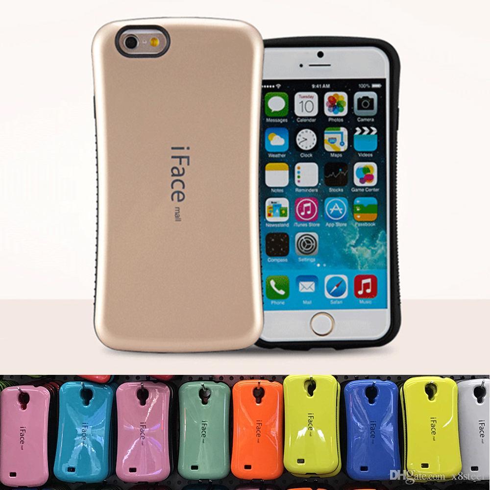 8e65e861806 Fundas Para Telefono Carcasa Iface Mall Para Iphone 6 7 8 Más X Carcasas  Para Galaxy Note 8 Nota 9 S8 S9 PLUS A Prueba De Golpes Híbrido Candy  Colors Casos ...