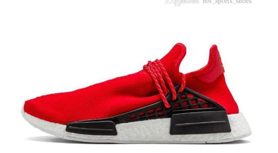 23cf6e846 2018 Release Pharrell Williams Solar Hu Glide Hu Trail Black White Human  Race BB8042 Men Women Running Shoes Authentic Sneakers Running Shoe Loafers  Mens ...