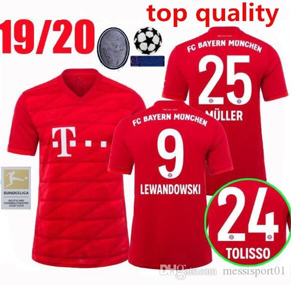 release date e5c46 87dd1 new Bayern Munich soccer jersey 2019/20 HOME AWAY third SHIRT Müller ROBBEN  LEWANDOWSKI football shirts 19/20 Bayern Munich football SHIRT