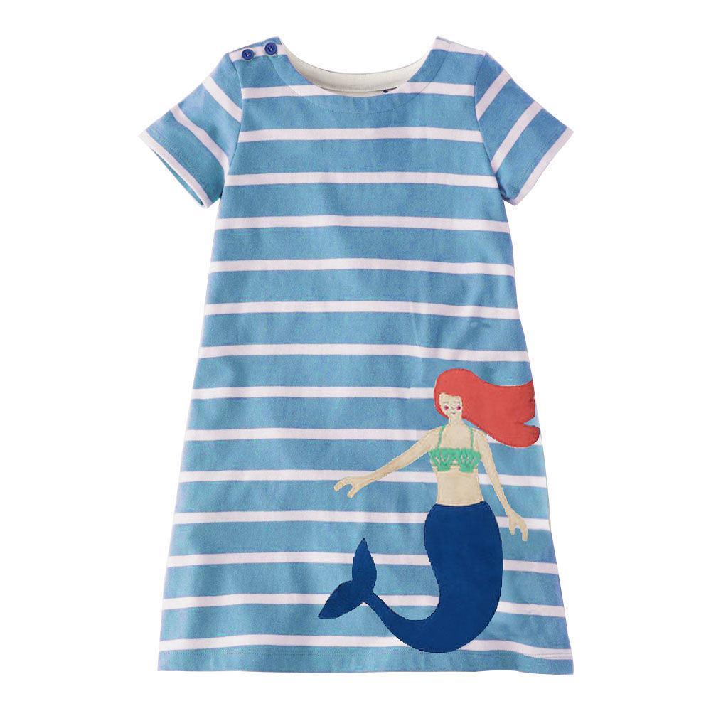41b264643 2019 Jumping Meters Girls Dress Mermaid Stripes Appliques 2019 ...