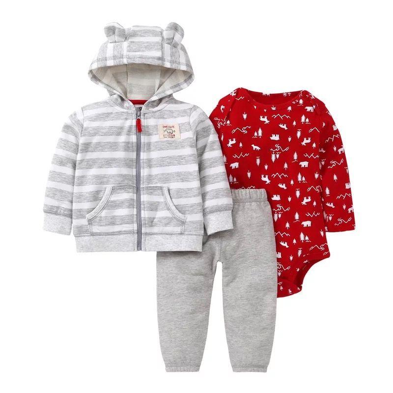 b3d973cf4 Fashional Lovely Girls Fleece Winter Hooded Coat Kids Rompers Pants ...