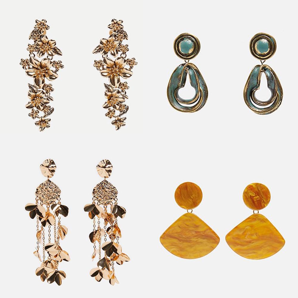 690f15aba Best Lady New Gold Flower Resin Fringed Drop Earrings for Women 2019  Bohemian Wedding Gift Statement Dangle Earrings Jewelry Drop Earrings Cheap  Drop ...