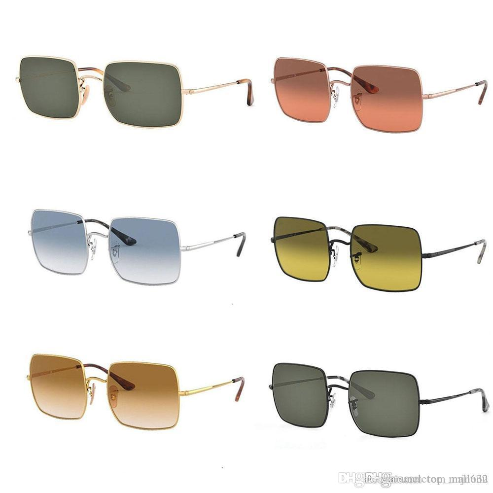 Brand Design Big Frame glass lens Shades Oversized Sunglasses Square Vintage Women men Fashion Sun Glasses Oculos De Sol with Retail box
