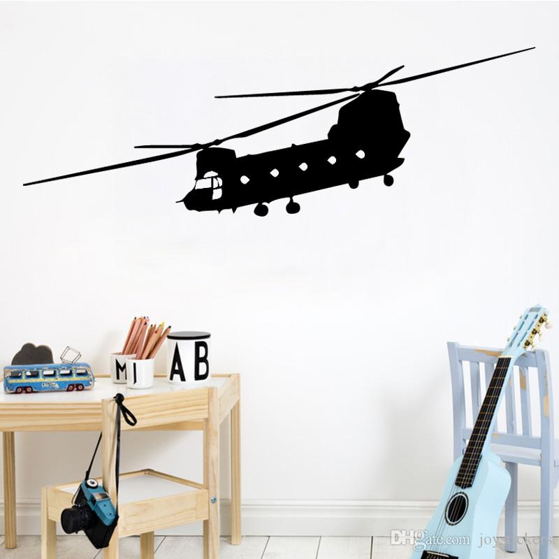 Free Shipping Vinyl Airplane Wall Stickers for Boys Livingroom Bedroom Helicopter Home Decoration Decal Art Wallpapers Mural