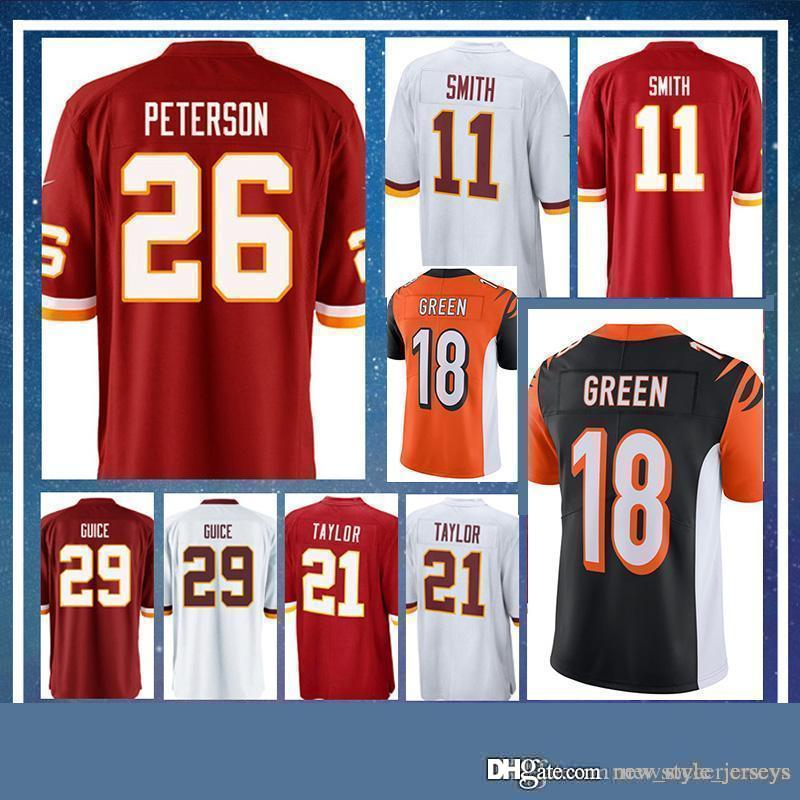 sports shoes 37b49 c1cc5 26 Peterson jersey 29 Derrius Guice Redskins 11 Alex Smith 21 Sean Taylor  football 91 Ryan Kerrigan