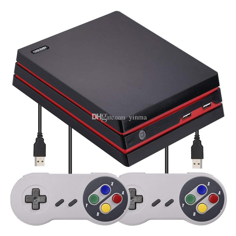 7e0816192215 2019 Coolbaby RS 34 Retro Classic Game Console HD AV Arcade Dual Output 600 Games  TV Video Game Console Support SD Card From Yinma