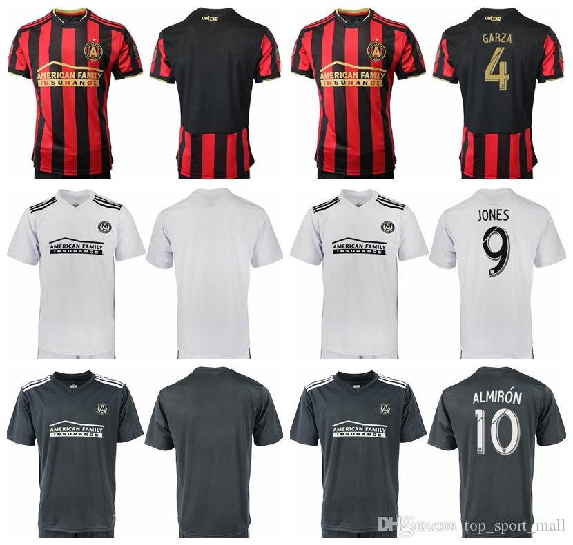 half off d4fc2 e8089 FC MLS Atlanta United Jersey Men Soccer 10 ALMIRON 7 MARTINEZ 4 GARZA 8  BARCO 15 VILLALBA Football Shirt Kits Uniform Red White