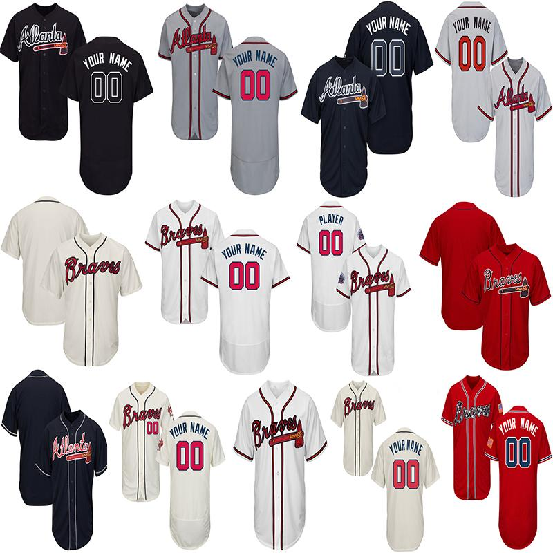 huge discount bef2e 5310f Customized Atlanta Baseball Jerseys Men Women Toddlers Jersey Any Name  Number Ronald Acuna Jr. Freddie Freeman Ozzie Albies