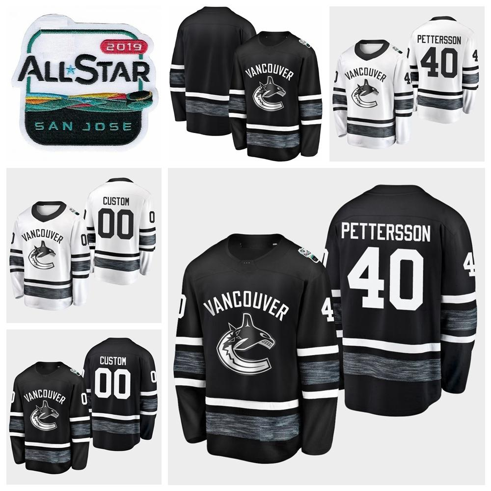 1a2be0d2bb7 2019 All Star Game 40 Elias Pettersson Customize Men Women Youth ...