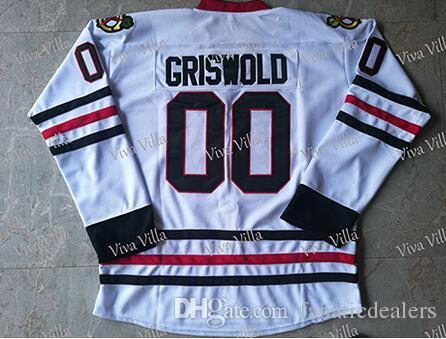 ed2938ebf 2019 Clark Griswold Hockey Jersey  00 Christmas Vacation Movie Hockey Jersey  Stithced Men White S 3XL Free Shippin From Fanaticdealers