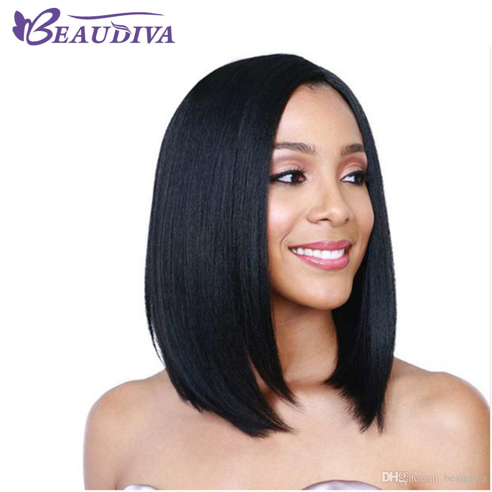 Beaudiva Lace Front Human Hair Wigs For Women Brazilian Straight Natural Color 2# 4# Lace Frontal Wig With Baby Hair 8A Grade Hair