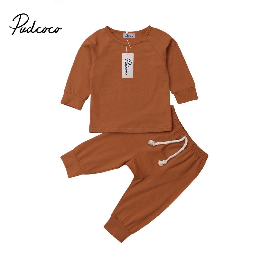 6 color Baby Boy Girl soft cotton Pajamas Clothes Set Sleepwear Nightwear Outfit for Newborn Infant Children Cloth Kid