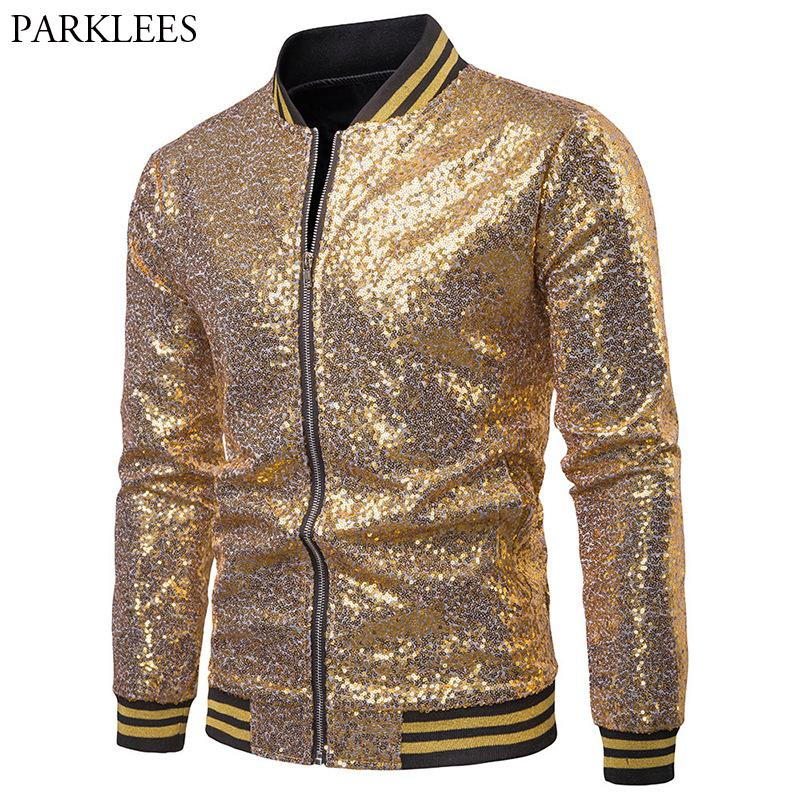 Großhandel Mens Gold Pailletten Jacke 2018 Mode Hip Hop Streetwear Baseball  Jacke Männer Casual Varsity Jacken Und Mäntel Chaqueta Hombre 2XL Von  Sincha, ... 9e6a5053bf