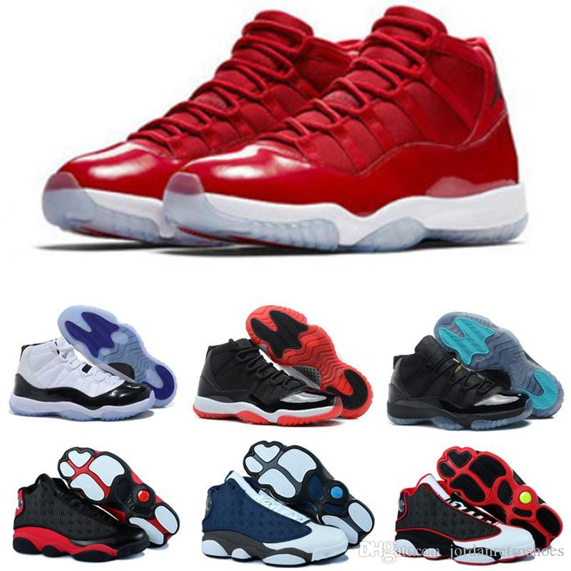 quality design 8c38d 5248e 11s 13s Mens Basketball Shoes 11 Concord 45 Platinum Tint Men Women High  Quality Bred Space Jam Sports Sneakers Designer Shoes Size 7-13