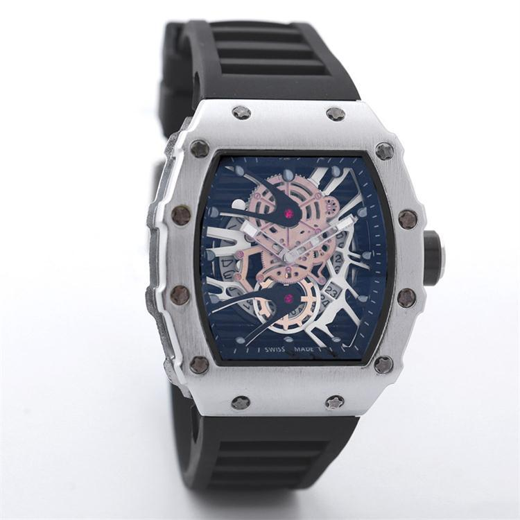 2018 New Luxury Skull sport Watches men Casual Fashion Skeleton quartz watch Wholesale Free Shipping GO