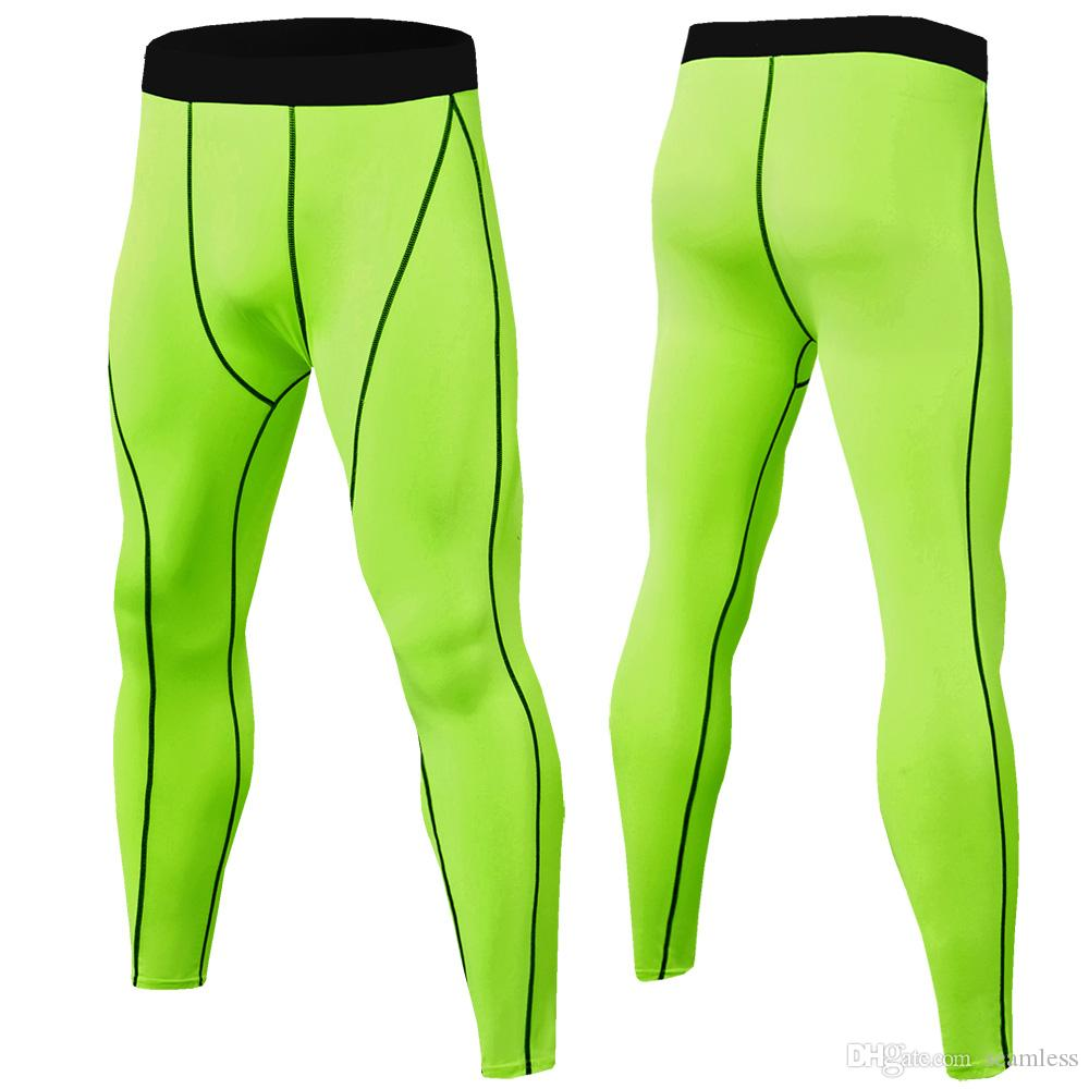 Wholesale 2019 Compression Pants Men Muscle Training Tights Gym Pants Running Joggers Fitness Trousers Yoga Leggings Sport Jogging Pants