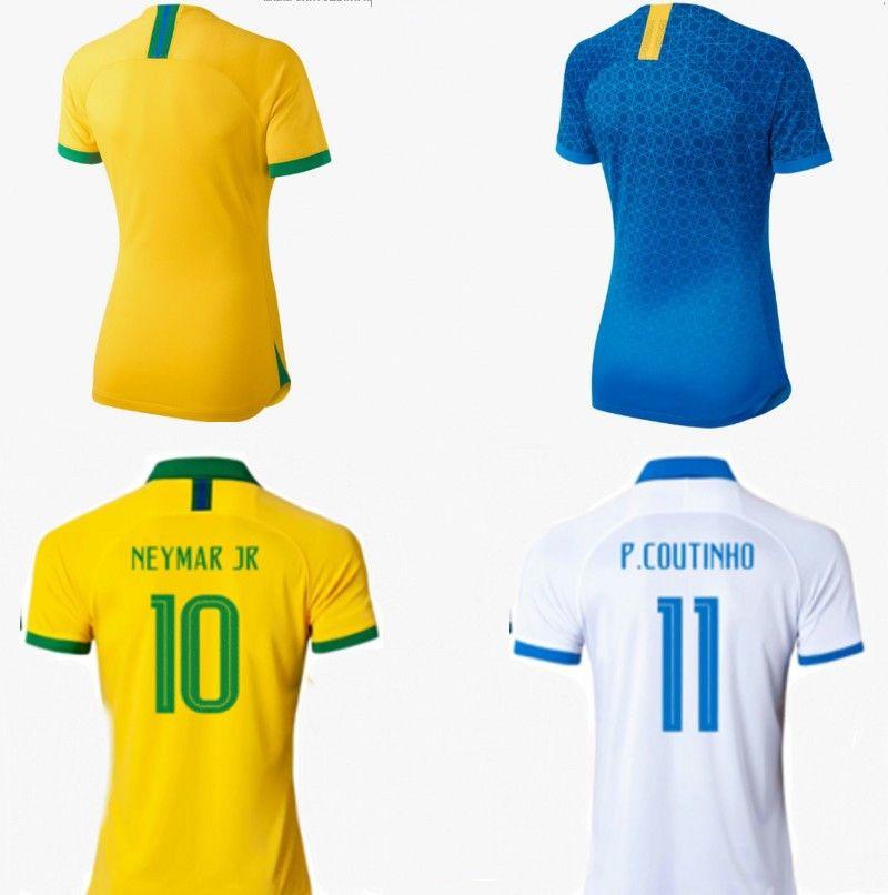 f01a6dd86 2019 BRAZIL 2019 Women World Cup Soccer Jerseys Copa Amererica Man National  Teams MARCELO NEYMAR JR Football Shirts Home Away Uniforms From Wedding66