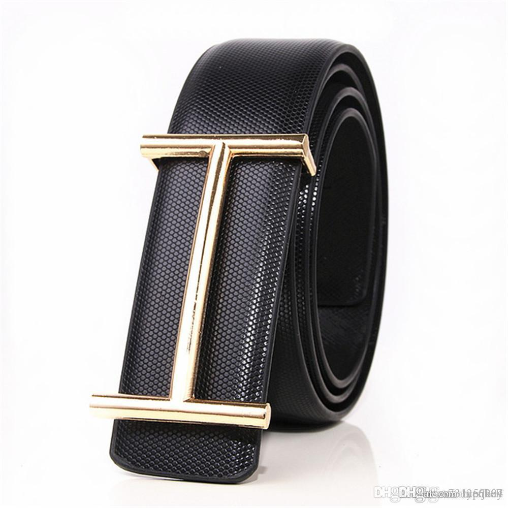 c6e37b85994aa 2016 New Fashion Luxury Buckle Belt Mens Smooth Buckle Leather Belts ...