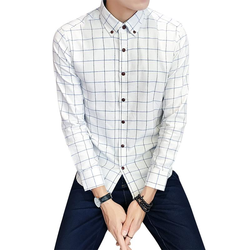 cedc6174 2019 Men Plaid Shirt 2019 New Arrivals Button Down Collar Multicolor  Business Casual Long Sleeve Sanding Shirts XXXXL CS07 From Mikety, $48.57 |  DHgate.Com