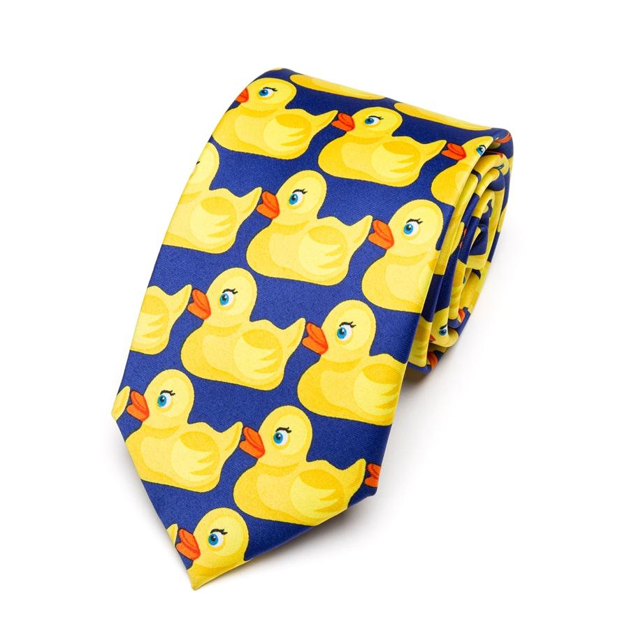 Men's Yellow Rubber Duck Tie Fashion Necktie From Hot TV Show How I Met Your Mother 8CM Width Bowtie Men