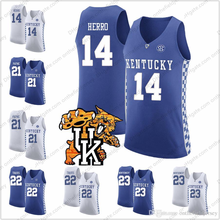 c924895a68ce NCAA Kentucky Wildcats  13 Jemarl Baker Jr. 21 Zan Payne 22 Reid ...