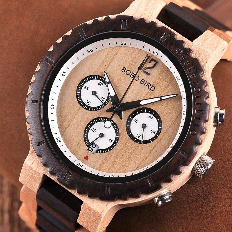 f690c20dbea BOBO BIRD Wooden Military Quartz Watches Luxury Stylish Men ...