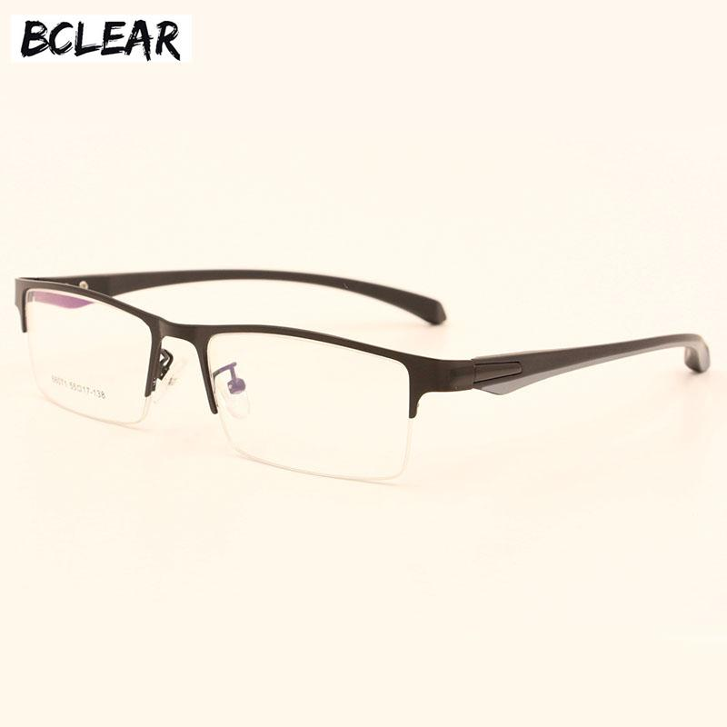 6d08ee9352 2019 BCLEAR Eyeglasses Optical Glasses Frame For Men Eyewear Prescription  Semi Rimless Spectacles Half Rim Eye Glassses From Taihangshan