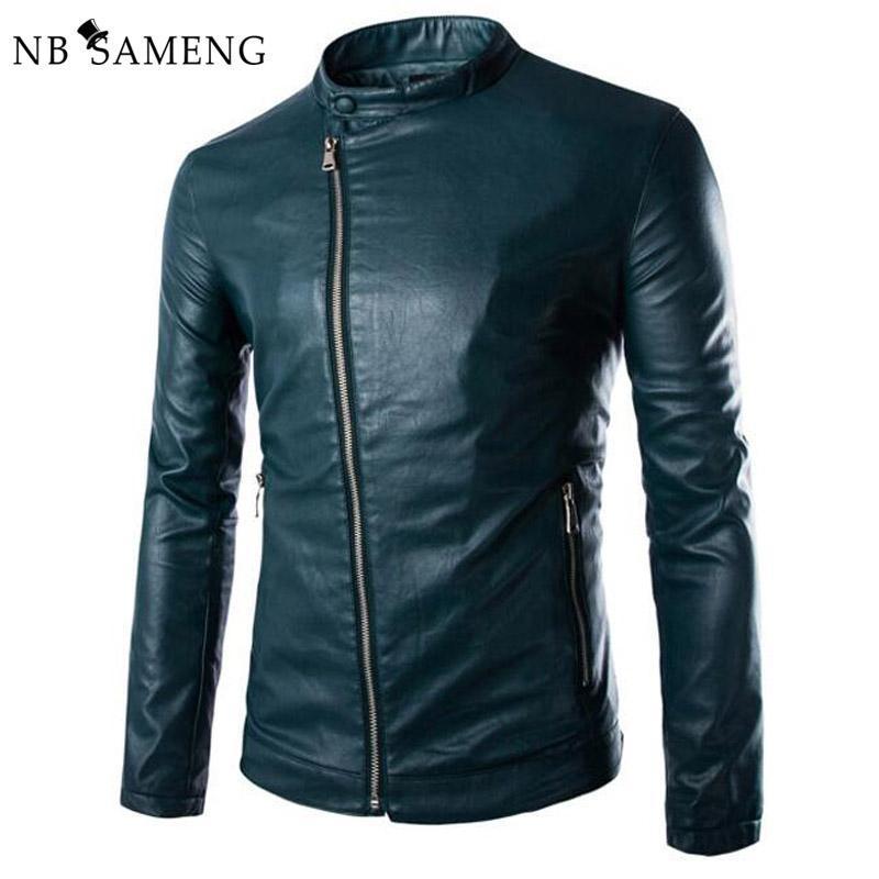 2019 New Green Pu Leather Jacket Men 2017 Autumn Fashion Mens Slim Fit  Motorcycle Biker Jacket Men Brand Veste Cuir Homme 13M0674 From Ganeir, ... f26bce928dc