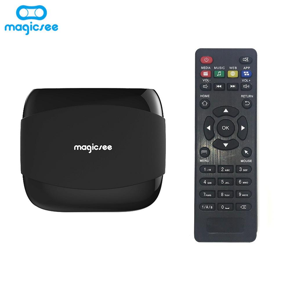 MAGICSEE N4 TV Box Amlogic S905X Android 7 1 2GB RAM + 16GB ROM 2 4G WiFi  100Mbps BT4 1 Support 4K H 265