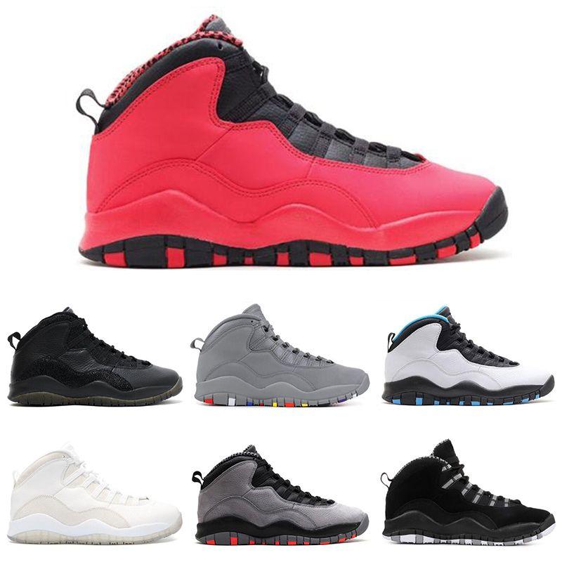 pretty nice 63c7d 9ee66 Großhandel Nike Air Jordan 10 10s Neue Designer 10 10er Zement Chicago  Bobcats Männer Basketball Schuhe Denker Racer Blue Herren Sport Sneakers  Trainer ...