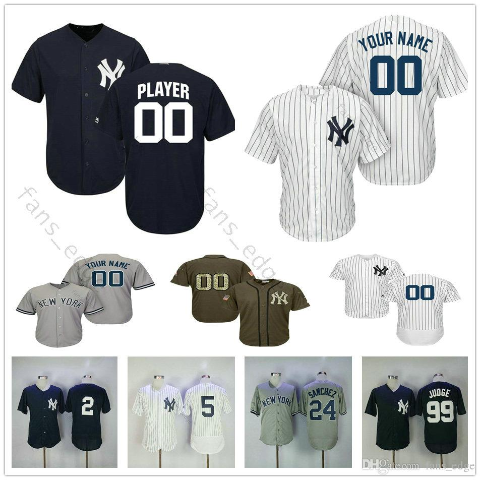 8eddf6494 2019 Custom New Mens Yankees  18 Didi Gregorius 23 Don Mattingly 24 Gary  Sanchez 27 Giancarlo Stanton Men Women Kids Youth Baseball Jerseys From  Heimei shop ...