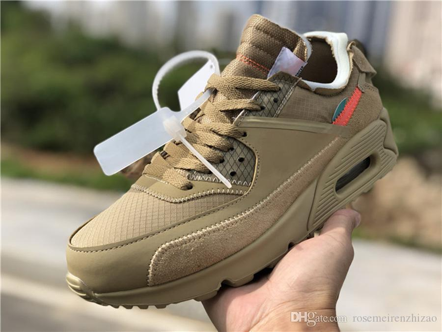 descuento Nike Off White Virgil Abloh Air Max 90 Desert Ore