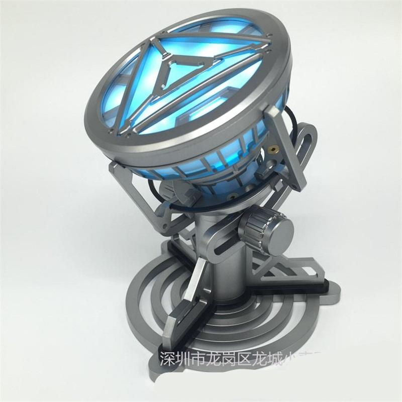 Iron Man Arc Reactor Action Figures Toy With LED Model For Children Boy Gifts Chest Lamp DIY 160xm F1