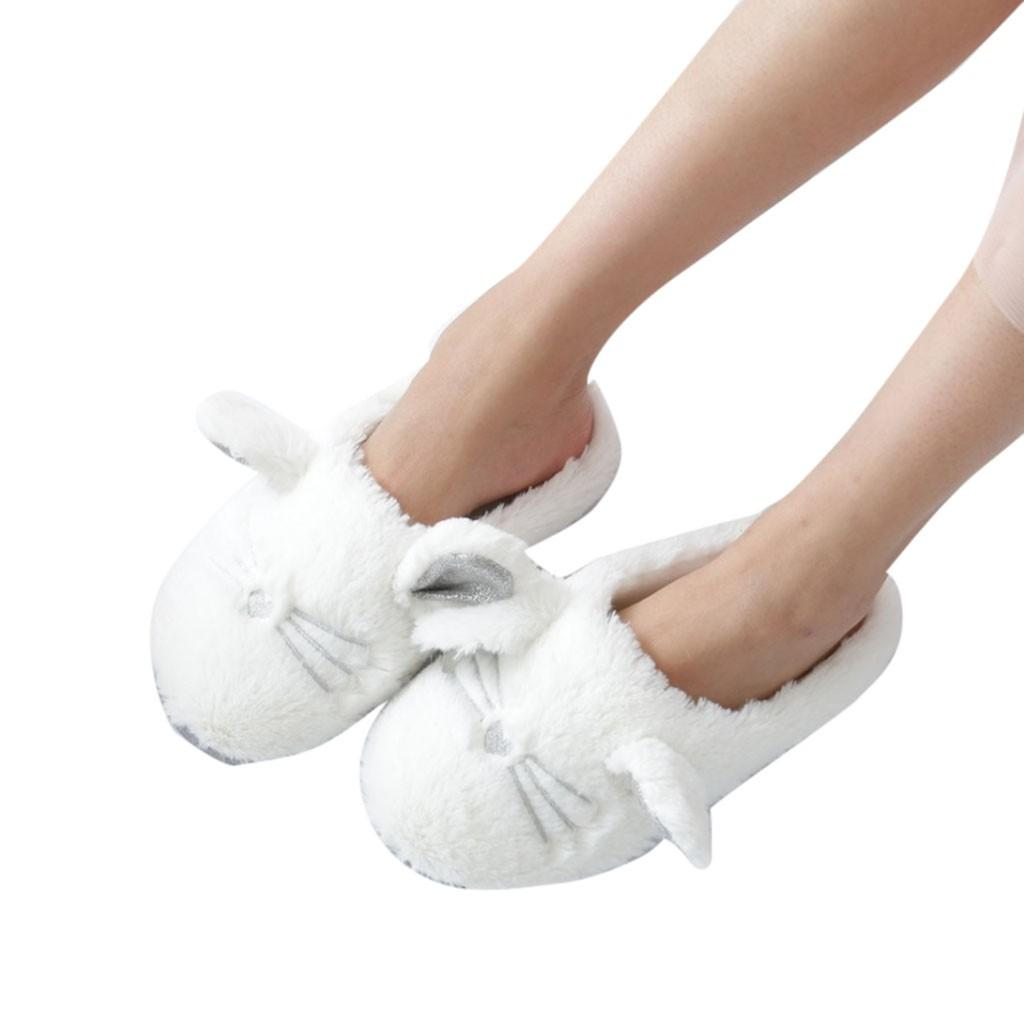 YOUYEDIAN Mules Shoes Women Soft Sole Cozy Plush Cute Indoor Home ... 8cf7d442f