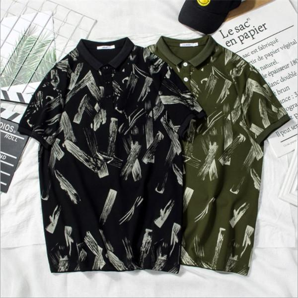 Fashion Designer Polo For Mens T shirts Summer Brand Mens Polo Shirts Short Sleeve Men T Shirts High Quality Casual T Black and Green color