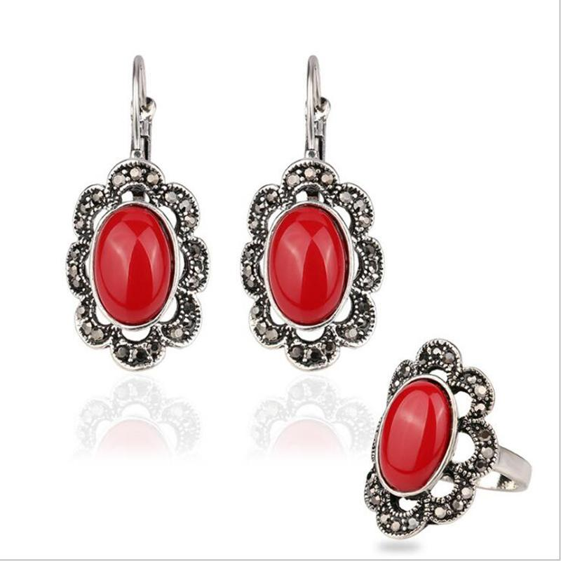 533995f7e Fashion Palace Vintage Luxury Resin Jewelry Set Popular Alloy Plated ...