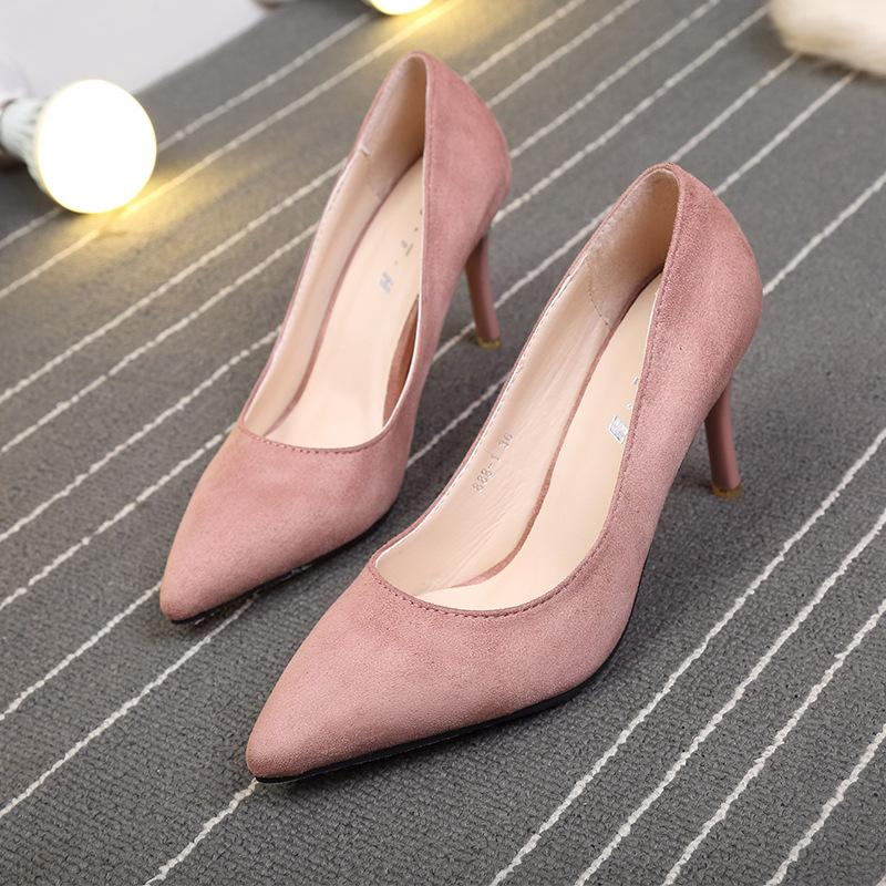 5789893af81 Fashion Shoes 2018 Women Shoes Chunky Heels Pums Womens Low Pumps Luxury  High Designer Fur Woman Round Italian Slippers Online with  53.4 Pair on  Baby911 s ...