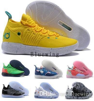 new arrival c5ed7 e0e11 Eybl Kd 11 Basketball Shoes Sneakers Men Women Yellow Still Emoji Twilight  Pulse Kevin Durant 11s XI 2018 Trainers Basket Ball Sports Shoes Mens  Sneakers ...