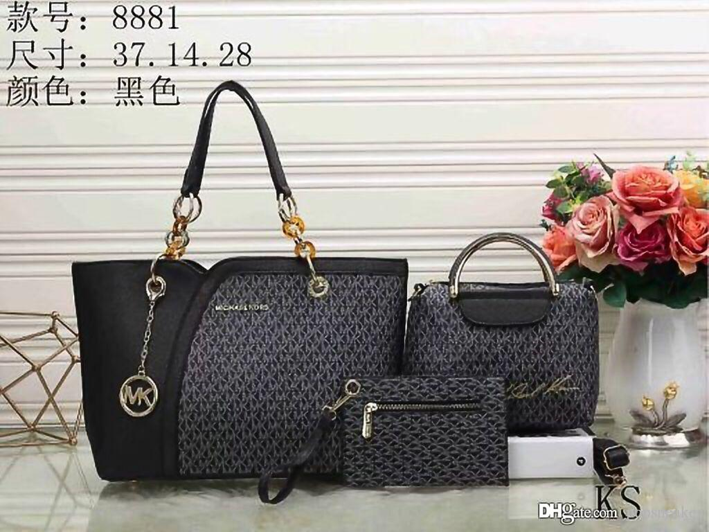 d9457896a07e Fashion Women M Bags PU Leather Composite Handbags Famous Designer Brand  America Purse Luxury Shoulder Tote Bag With Wallets Clutches Online Leather  Goods ...
