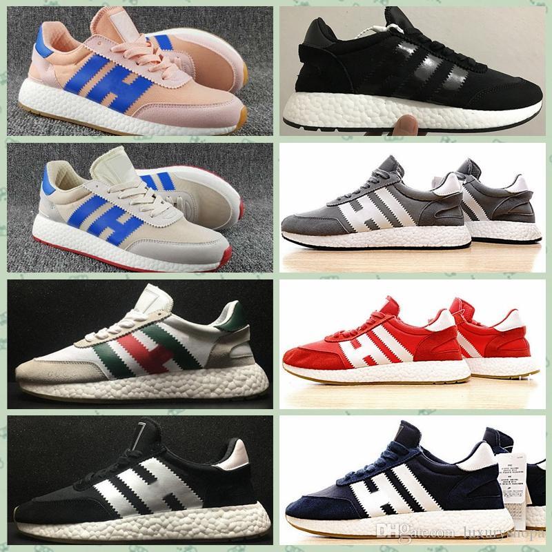 Adidas Original INIKI RUNNER Iniki Runner Zapatos para correr para hombres Mujeres Real Calidad superior Original Negro Blanco Iniki Runner Designer
