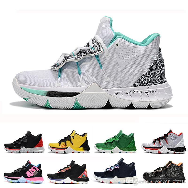 the latest 717f1 c235c 2019 Kyrie Mens 5 Taco Basketball Shoes Chaussures Irving 5s Sneakers Wolf  Grey Team Red Black Magic Outdoor Trainers Designer Schuhe Sports From ...