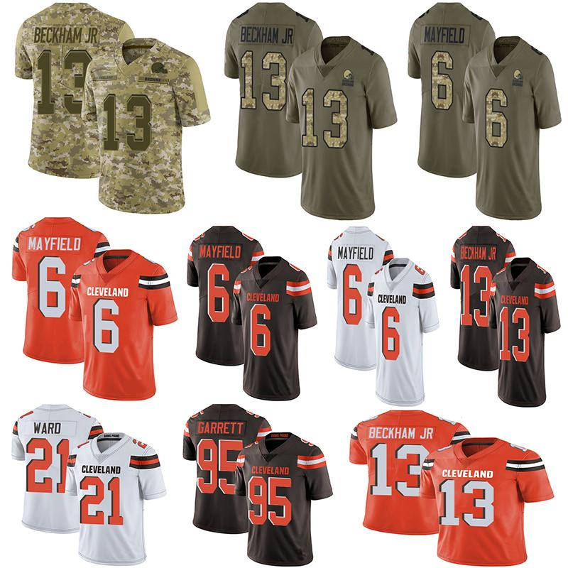 9ca5b88b2a4 2019 2019 Cleveland American Football Jerseys Browns 6 Baker Mayfield 13  Odell Beckham Jr 21 Denzel Ward Stitched Untouchable Limited Jersey From  Jersey_3, ...