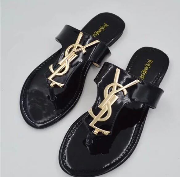 aec8852bd1d 2019 brand ladies designer slippers casual rubber summer huaraches slippers  Loafers flat shoes leather luxury slide designer sandals us5-11