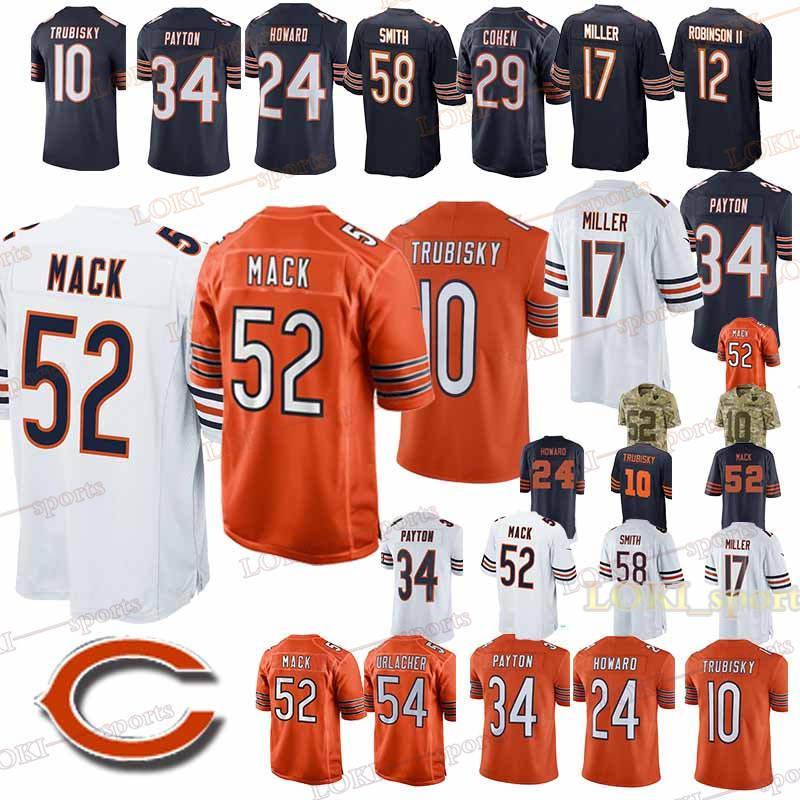 top fashion 2b5e9 b8214 CHICAGO jerseys BEARS 52 Khalil Mack 39 EDDIE JACKSON 34 Walter Payton  superior quality new jersey 2019